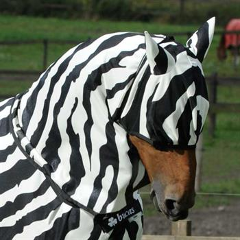 BUCAS Buzz-Off Zebra Fly Mask