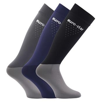 EUROSTAR Reitstrumpf Brushed Socks 3er Set